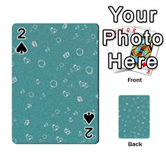Sweetie Soft Teal Playing Cards 54 Designs