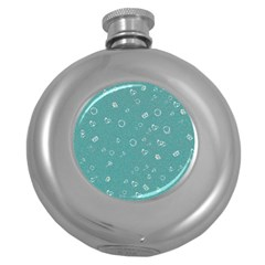Sweetie Soft Teal Round Hip Flask (5 oz)