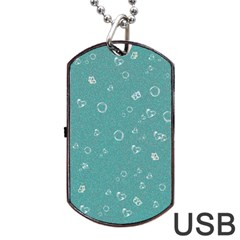 Sweetie Soft Teal Dog Tag USB Flash (One Side)