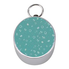 Sweetie Soft Teal Mini Silver Compasses