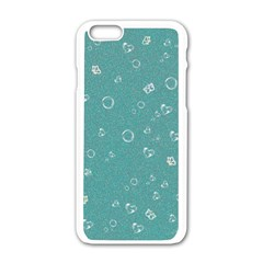 Sweetie Soft Teal Apple iPhone 6/6S White Enamel Case