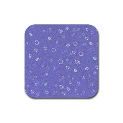 Sweetie Soft Blue Rubber Coaster (Square)