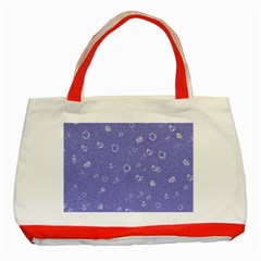 Sweetie Soft Blue Classic Tote Bag (Red)
