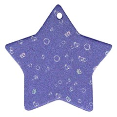 Sweetie Soft Blue Star Ornament (Two Sides)
