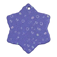 Sweetie Soft Blue Snowflake Ornament (2-Side)