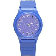 Sweetie Soft Blue Round Plastic Sport Watch (s)