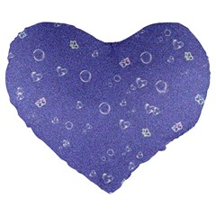 Sweetie Soft Blue Large 19  Premium Heart Shape Cushions