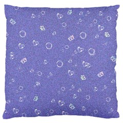 Sweetie Soft Blue Large Flano Cushion Cases (One Side)
