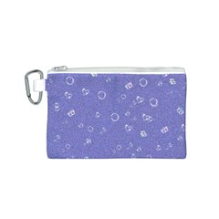 Sweetie Soft Blue Canvas Cosmetic Bag (S)
