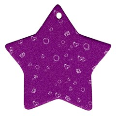 Sweetie,purple Star Ornament (Two Sides)