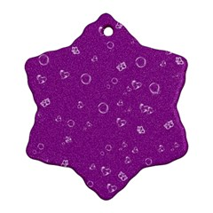 Sweetie,purple Snowflake Ornament (2 Side)