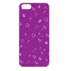 Sweetie,purple Apple iPhone 5 Seamless Case (White)
