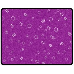 Sweetie,purple Double Sided Fleece Blanket (Medium)