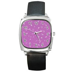 Sweetie,pink Square Metal Watches