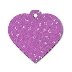 Sweetie,pink Dog Tag Heart (One Side)