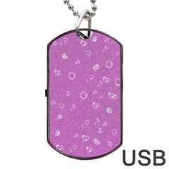 Sweetie,pink Dog Tag Usb Flash (one Side)