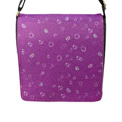 Sweetie,pink Flap Messenger Bag (L)