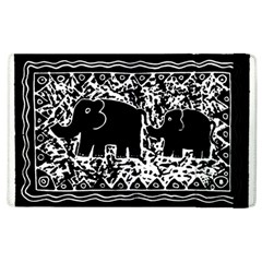 Elephant And Calf Lino Print Apple iPad 2 Flip Case