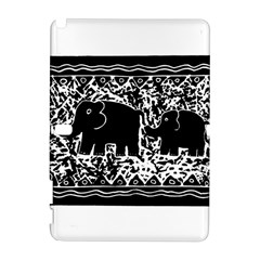 Elephant And Calf Lino Print Samsung Galaxy Note 10.1 (P600) Hardshell Case