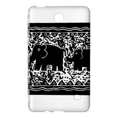Elephant And Calf Lino Print Samsung Galaxy Tab 4 (7 ) Hardshell Case
