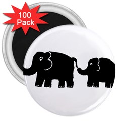 Elephant And Calf 3  Magnets (100 pack)