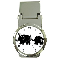 Elephant And Calf Money Clip Watches