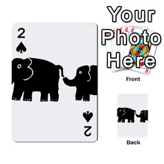 Elephant And Calf Playing Cards 54 Designs