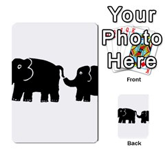 Elephant And Calf Multi Purpose Cards (rectangle)