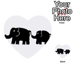 Elephant And Calf Multi-purpose Cards (Heart)