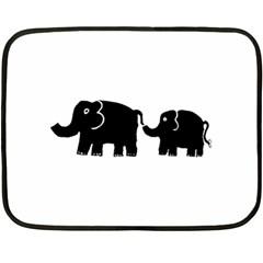 Elephant And Calf Fleece Blanket (Mini)
