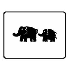 Elephant And Calf Fleece Blanket (Small)