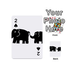 Elephant And Calf Playing Cards 54 (Mini)
