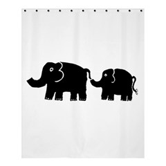 Elephant And Calf Shower Curtain 60  X 72  (medium)