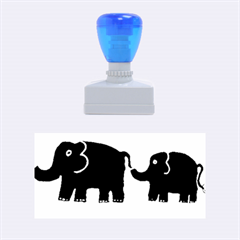 Elephant And Calf Rubber Stamps (medium)