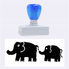 Elephant And Calf Rubber Stamps (Large)