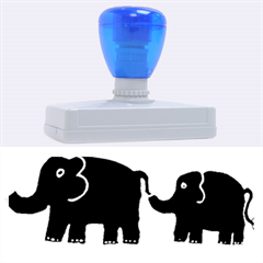 Elephant And Calf Rubber Address Stamps (XL)