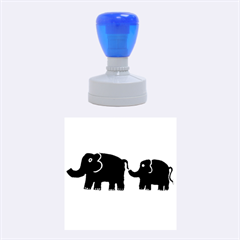 Elephant And Calf Rubber Round Stamps (Medium)