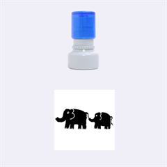 Elephant And Calf Rubber Round Stamps (small)