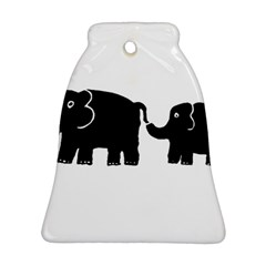 Elephant And Calf Bell Ornament (2 Sides)