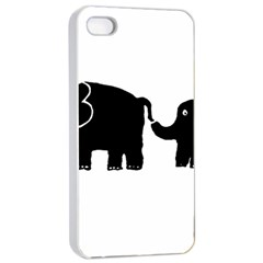 Elephant And Calf Apple Iphone 4/4s Seamless Case (white)