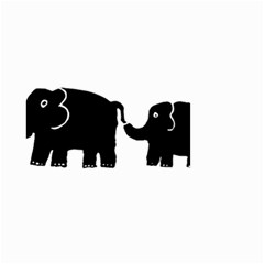 Elephant And Calf Small Garden Flag (Two Sides)