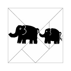Elephant And Calf Acrylic Tangram Puzzle (6  x 6 )