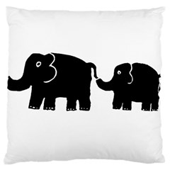 Elephant And Calf Large Cushion Cases (Two Sides)