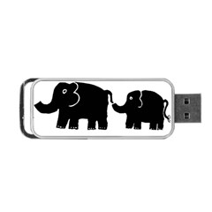 Elephant And Calf Portable USB Flash (Two Sides)