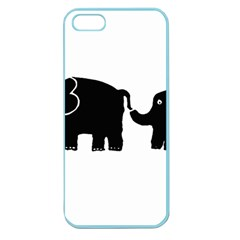 Elephant And Calf Apple Seamless iPhone 5 Case (Color)