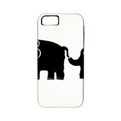 Elephant And Calf Apple iPhone 5 Classic Hardshell Case (PC+Silicone)