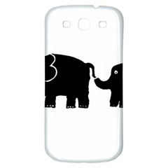 Elephant And Calf Samsung Galaxy S3 S III Classic Hardshell Back Case