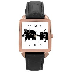 Elephant And Calf Rose Gold Watches