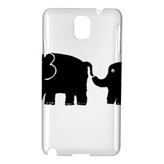 Elephant And Calf Samsung Galaxy Note 3 N9005 Hardshell Case