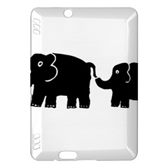 Elephant And Calf Kindle Fire HDX Hardshell Case